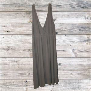 Metro7 Gray Twisted Strap Dress (sz L)